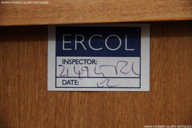 Image 41 of ERCOL LIGHT ELM DISPLAY CABINET CUPBOARD SIDEBOARD DRESSER