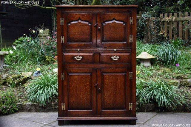 Preview of the first image of TITCHMARSH & GOODWIN SERVING TABLE DRINKS WINE CABINET STAND.