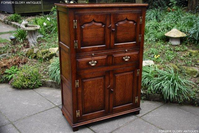 Image 2 of TITCHMARSH & GOODWIN SERVING TABLE DRINKS WINE CABINET STAND