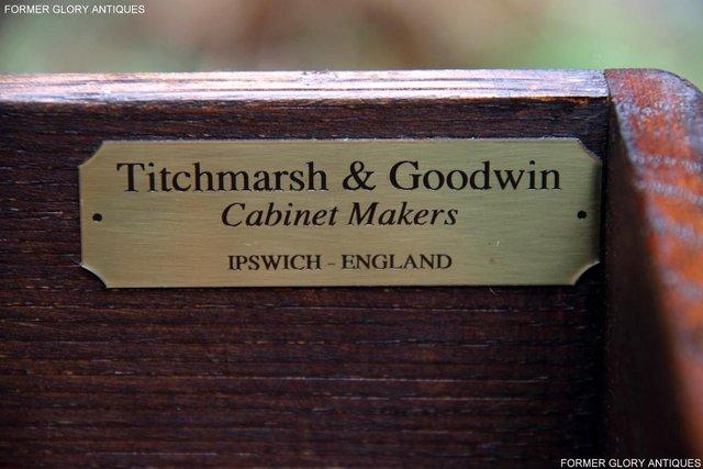Image 4 of TITCHMARSH & GOODWIN SERVING TABLE DRINKS WINE CABINET STAND