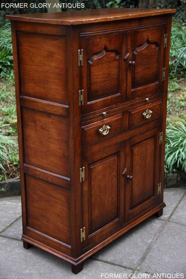 Image 24 of TITCHMARSH & GOODWIN SERVING TABLE DRINKS WINE CABINET STAND