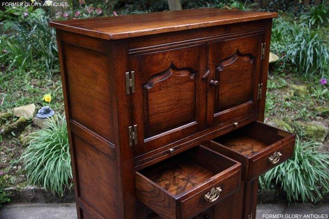 Image 31 of TITCHMARSH & GOODWIN SERVING TABLE DRINKS WINE CABINET STAND