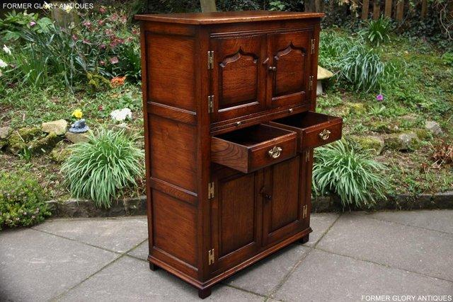 Image 37 of TITCHMARSH & GOODWIN SERVING TABLE DRINKS WINE CABINET STAND