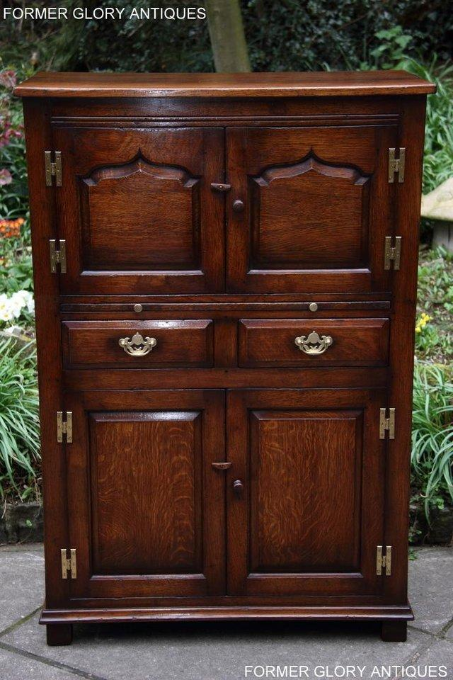 Image 38 of TITCHMARSH & GOODWIN SERVING TABLE DRINKS WINE CABINET STAND