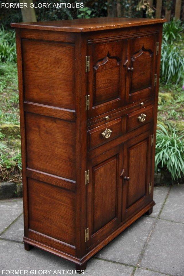 Image 44 of TITCHMARSH & GOODWIN SERVING TABLE DRINKS WINE CABINET STAND