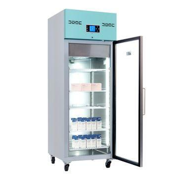Preview of the first image of LEC 600 LITRE GLASS FRONTED UPRIGHT MEDICAL PHARMACY FRIDGE.