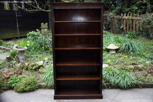 Preview of the first image of A JAYCEE OLD CHARM DISPLAY CABINET OPEN BOOKCASE SHELVES.