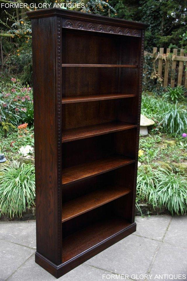 Image 2 of A JAYCEE OLD CHARM DISPLAY CABINET OPEN BOOKCASE SHELVES