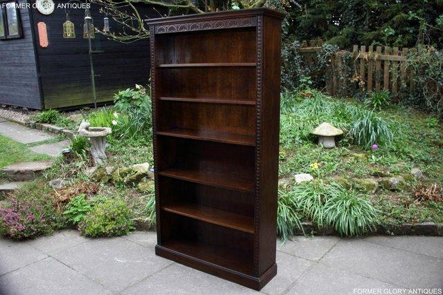 Image 3 of A JAYCEE OLD CHARM DISPLAY CABINET OPEN BOOKCASE SHELVES
