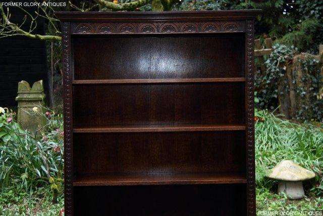 Image 5 of A JAYCEE OLD CHARM DISPLAY CABINET OPEN BOOKCASE SHELVES