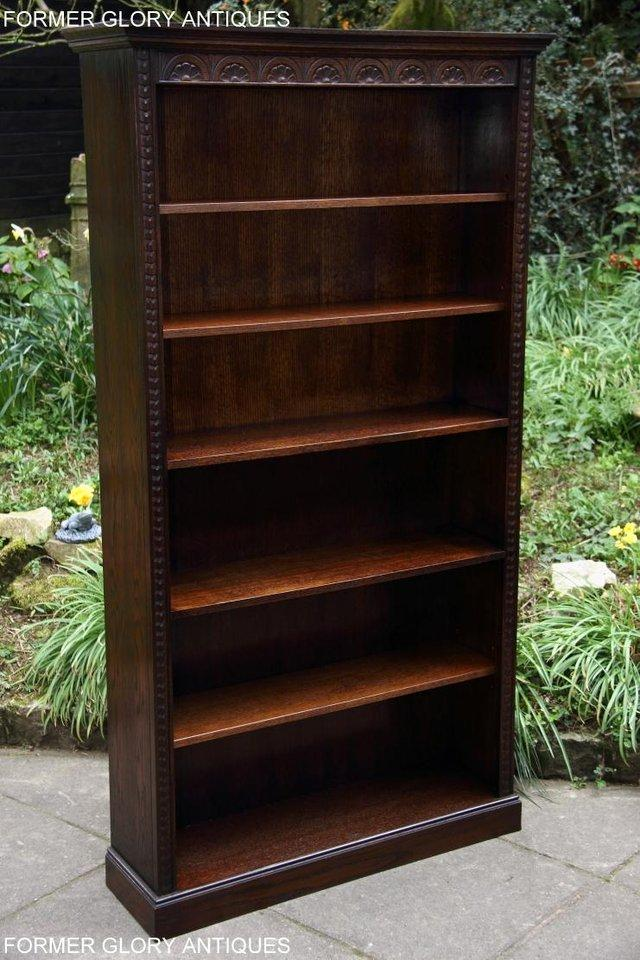 Image 6 of A JAYCEE OLD CHARM DISPLAY CABINET OPEN BOOKCASE SHELVES