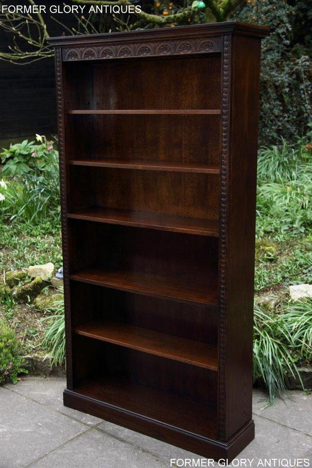Image 7 of A JAYCEE OLD CHARM DISPLAY CABINET OPEN BOOKCASE SHELVES