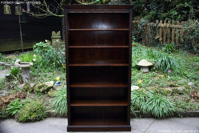 Image 8 of A JAYCEE OLD CHARM DISPLAY CABINET OPEN BOOKCASE SHELVES