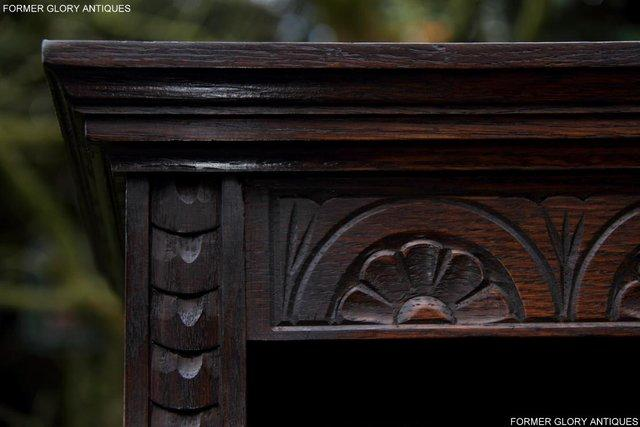 Image 9 of A JAYCEE OLD CHARM DISPLAY CABINET OPEN BOOKCASE SHELVES