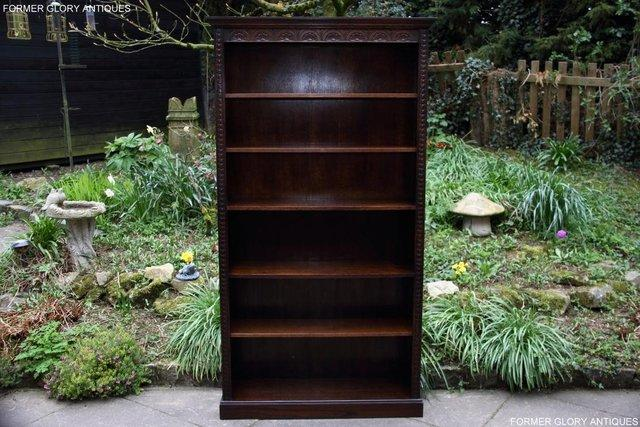 Image 10 of A JAYCEE OLD CHARM DISPLAY CABINET OPEN BOOKCASE SHELVES