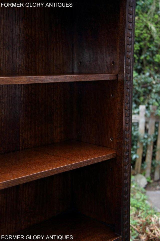 Image 13 of A JAYCEE OLD CHARM DISPLAY CABINET OPEN BOOKCASE SHELVES