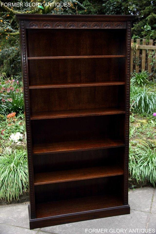 Image 14 of A JAYCEE OLD CHARM DISPLAY CABINET OPEN BOOKCASE SHELVES