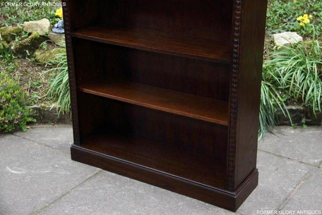 Image 15 of A JAYCEE OLD CHARM DISPLAY CABINET OPEN BOOKCASE SHELVES