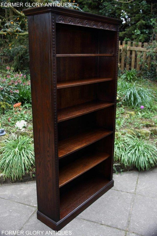Image 16 of A JAYCEE OLD CHARM DISPLAY CABINET OPEN BOOKCASE SHELVES