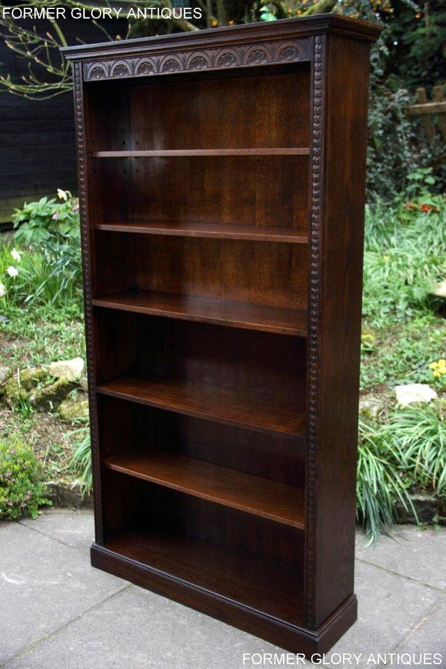 Image 17 of A JAYCEE OLD CHARM DISPLAY CABINET OPEN BOOKCASE SHELVES