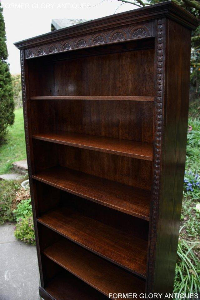 Image 19 of A JAYCEE OLD CHARM DISPLAY CABINET OPEN BOOKCASE SHELVES
