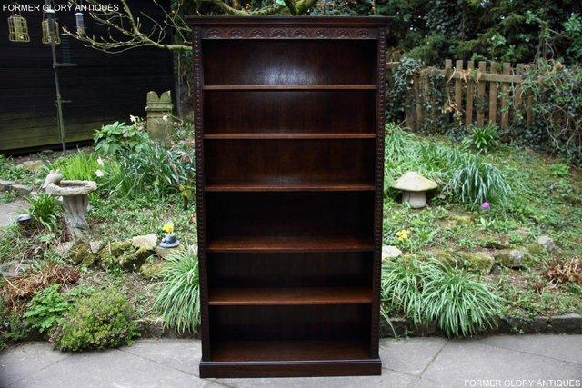 Image 20 of A JAYCEE OLD CHARM DISPLAY CABINET OPEN BOOKCASE SHELVES