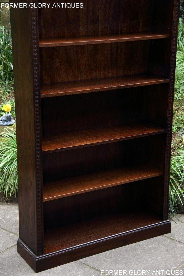 Image 21 of A JAYCEE OLD CHARM DISPLAY CABINET OPEN BOOKCASE SHELVES