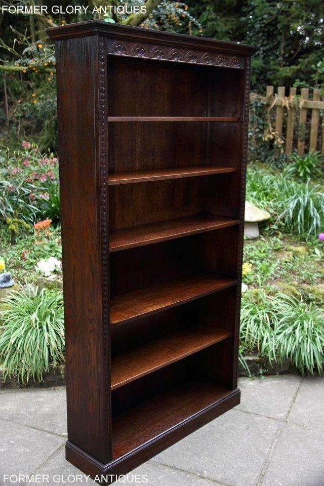 Image 22 of A JAYCEE OLD CHARM DISPLAY CABINET OPEN BOOKCASE SHELVES
