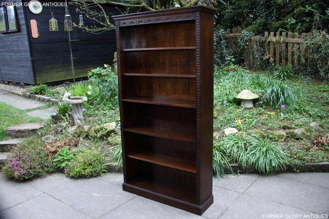 Image 24 of A JAYCEE OLD CHARM DISPLAY CABINET OPEN BOOKCASE SHELVES