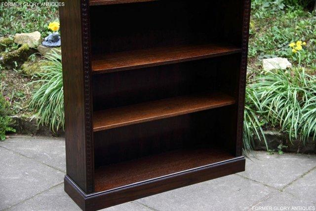 Image 25 of A JAYCEE OLD CHARM DISPLAY CABINET OPEN BOOKCASE SHELVES