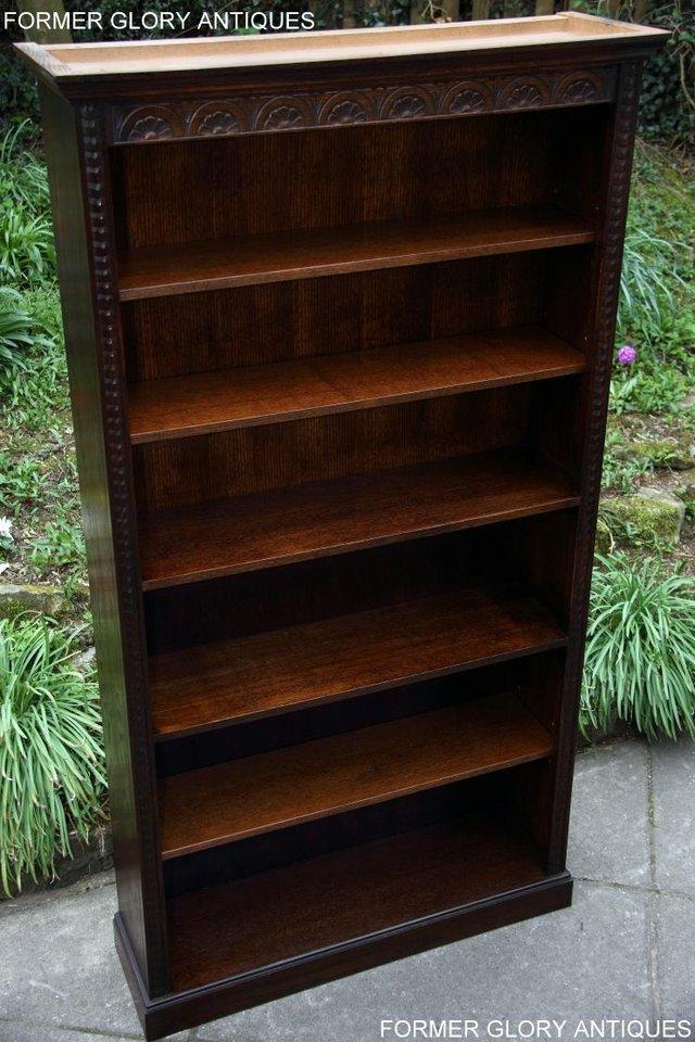 Image 26 of A JAYCEE OLD CHARM DISPLAY CABINET OPEN BOOKCASE SHELVES