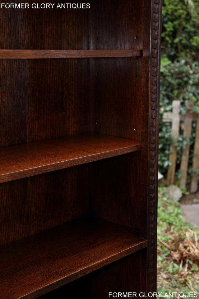 Image 27 of A JAYCEE OLD CHARM DISPLAY CABINET OPEN BOOKCASE SHELVES