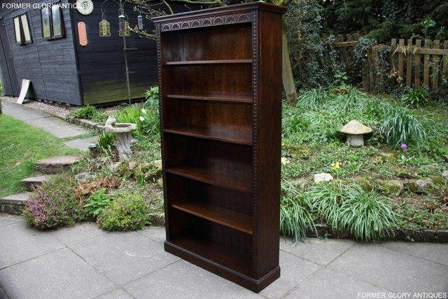 Image 28 of A JAYCEE OLD CHARM DISPLAY CABINET OPEN BOOKCASE SHELVES