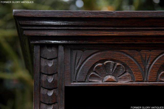 Image 29 of A JAYCEE OLD CHARM DISPLAY CABINET OPEN BOOKCASE SHELVES