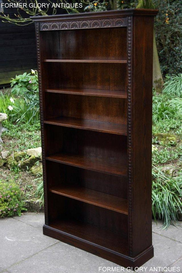 Image 31 of A JAYCEE OLD CHARM DISPLAY CABINET OPEN BOOKCASE SHELVES