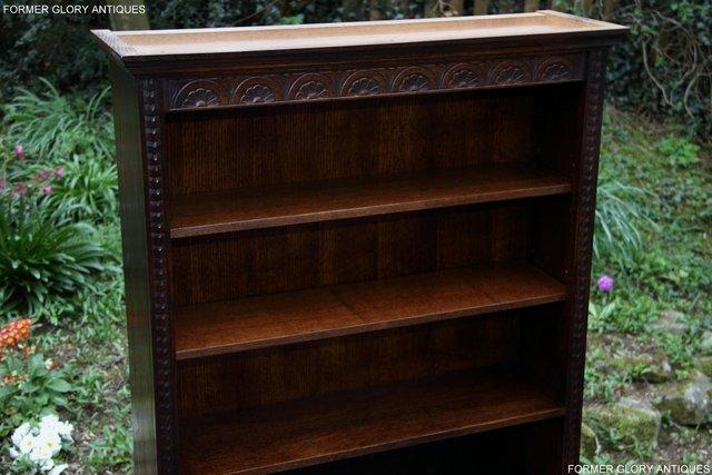 Image 32 of A JAYCEE OLD CHARM DISPLAY CABINET OPEN BOOKCASE SHELVES