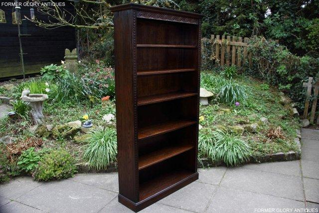 Image 33 of A JAYCEE OLD CHARM DISPLAY CABINET OPEN BOOKCASE SHELVES