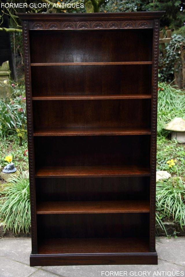 Image 34 of A JAYCEE OLD CHARM DISPLAY CABINET OPEN BOOKCASE SHELVES