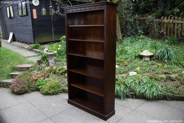 Image 36 of A JAYCEE OLD CHARM DISPLAY CABINET OPEN BOOKCASE SHELVES