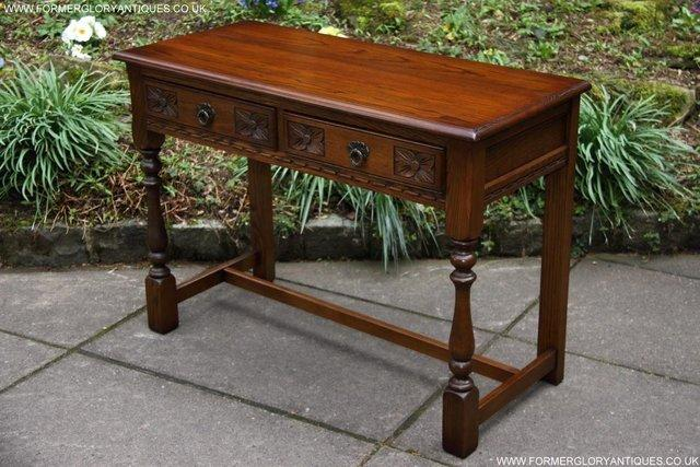 Image 3 of AN OLD CHARM LIGHT OAK LAMP PHONE HALL TABLE STAND SIDEBOARD