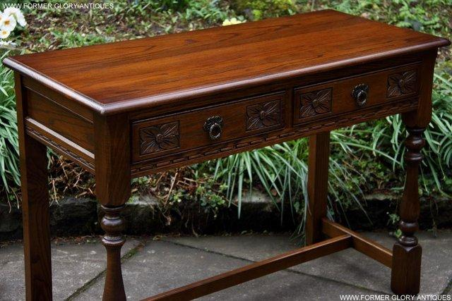Image 4 of AN OLD CHARM LIGHT OAK LAMP PHONE HALL TABLE STAND SIDEBOARD
