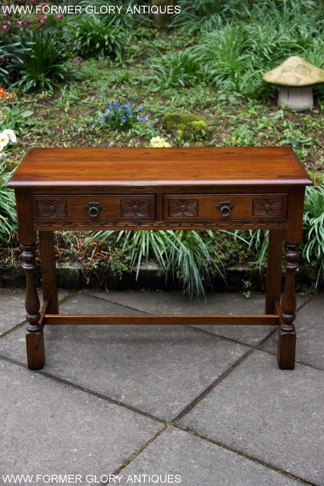 Image 5 of AN OLD CHARM LIGHT OAK LAMP PHONE HALL TABLE STAND SIDEBOARD