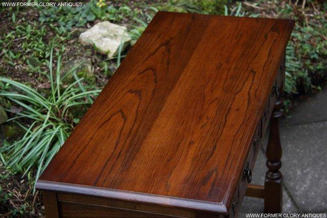 Image 6 of AN OLD CHARM LIGHT OAK LAMP PHONE HALL TABLE STAND SIDEBOARD