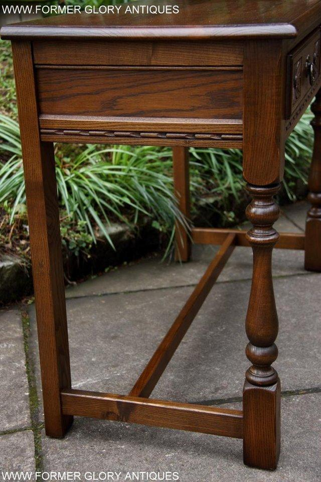 Image 7 of AN OLD CHARM LIGHT OAK LAMP PHONE HALL TABLE STAND SIDEBOARD