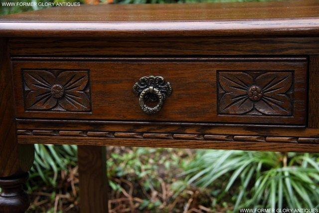 Image 9 of AN OLD CHARM LIGHT OAK LAMP PHONE HALL TABLE STAND SIDEBOARD