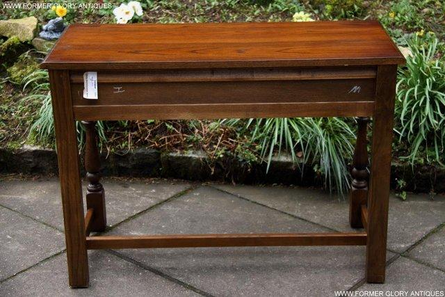 Image 10 of AN OLD CHARM LIGHT OAK LAMP PHONE HALL TABLE STAND SIDEBOARD
