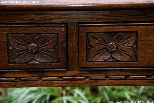 Image 11 of AN OLD CHARM LIGHT OAK LAMP PHONE HALL TABLE STAND SIDEBOARD