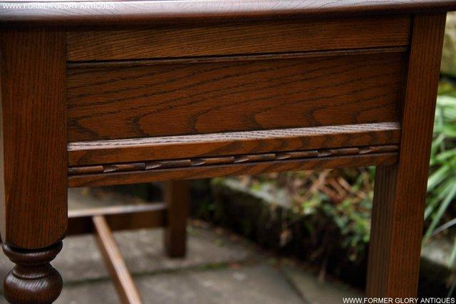Image 12 of AN OLD CHARM LIGHT OAK LAMP PHONE HALL TABLE STAND SIDEBOARD