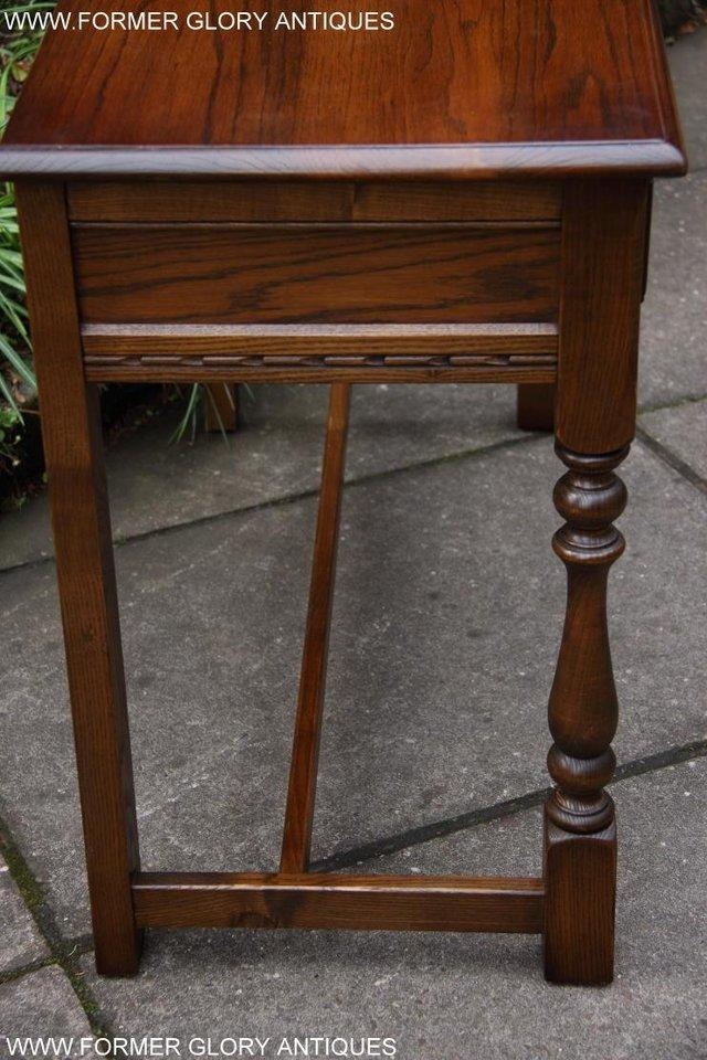 Image 16 of AN OLD CHARM LIGHT OAK LAMP PHONE HALL TABLE STAND SIDEBOARD