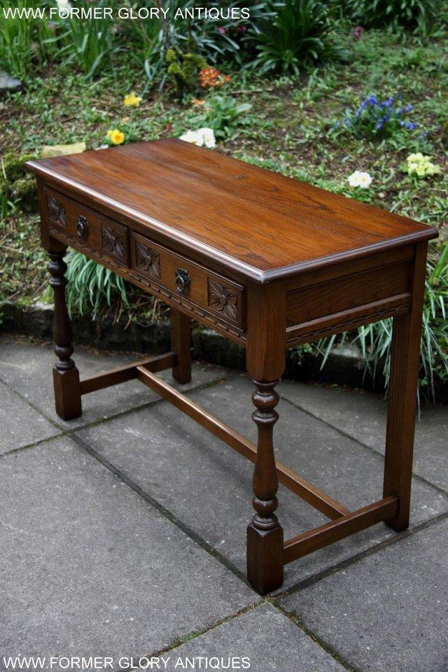 Image 18 of AN OLD CHARM LIGHT OAK LAMP PHONE HALL TABLE STAND SIDEBOARD